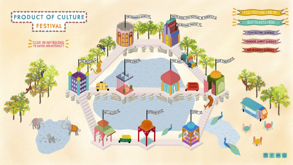 Product of Culture Festival Map